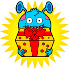 splork_with_gift